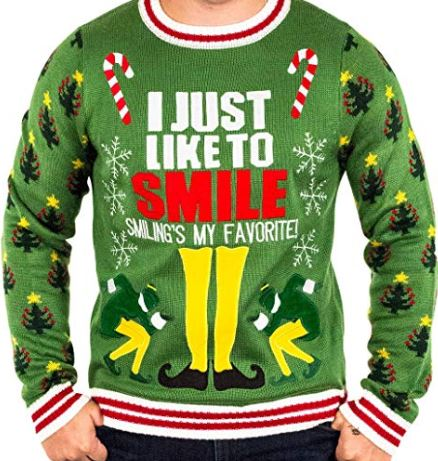 Best Ugly Christmas Holiday Sweaters on Amazon: Elf Movie Christmas Sweater