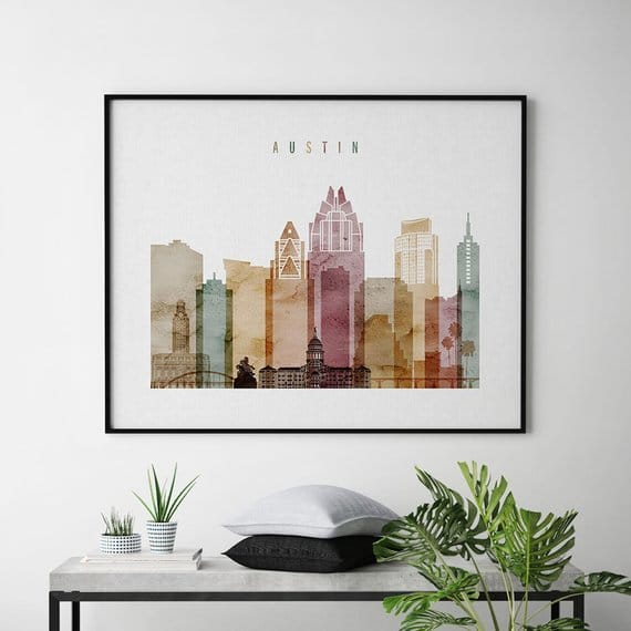 gifts for women Skyline Art Prints (Mulitple Styles + Cities)