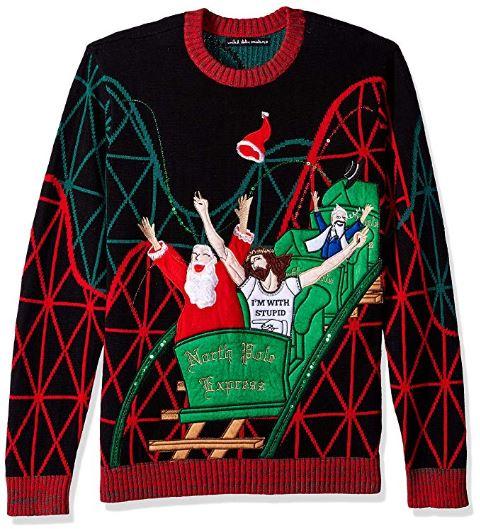 Best Ugly Holiday Sweaters on Amazon: Jesus & Santa Roller Coaster Buddies