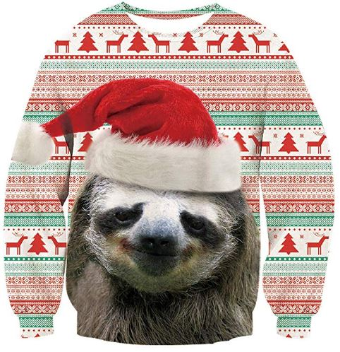 Best Ugly Christmas Holiday Sweaters on Amazon: Sloth