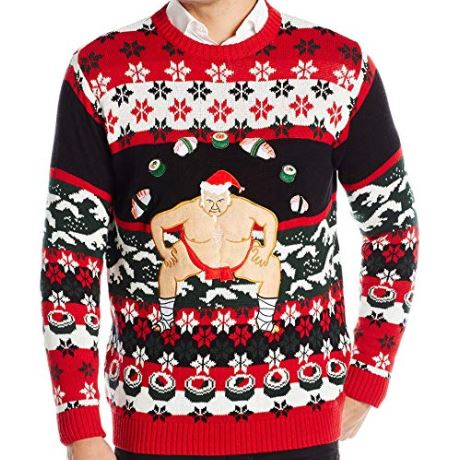 Best Ugly Holiday Sweaters on Amazon: Sumo Santa