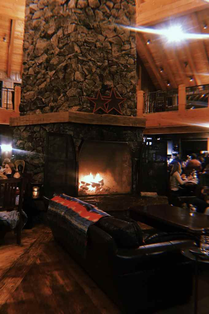 Devil's Thumb Ranch and Spa - Heck's Tavern Fireplacea