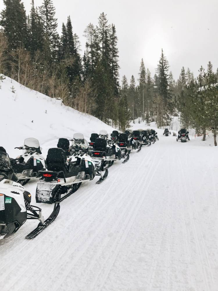 Snowmobile Tour in Winter Park Resort