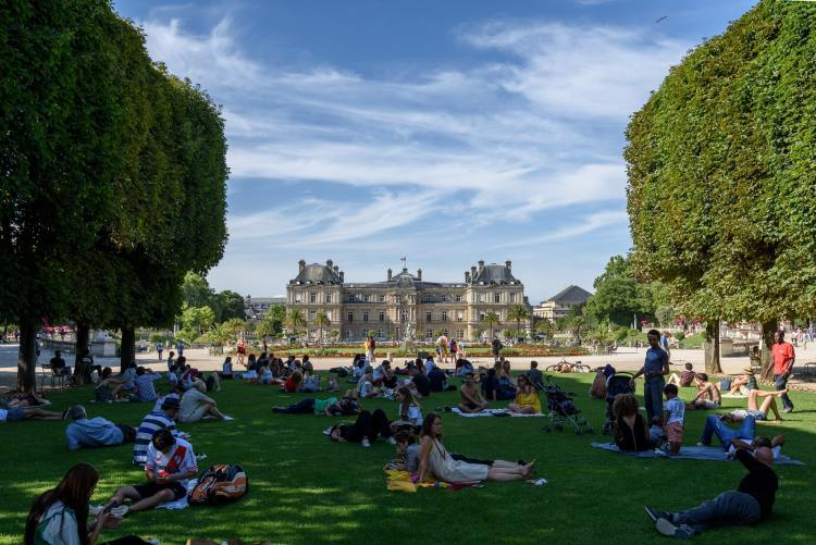Relaxing in the Luxembourg Gardens