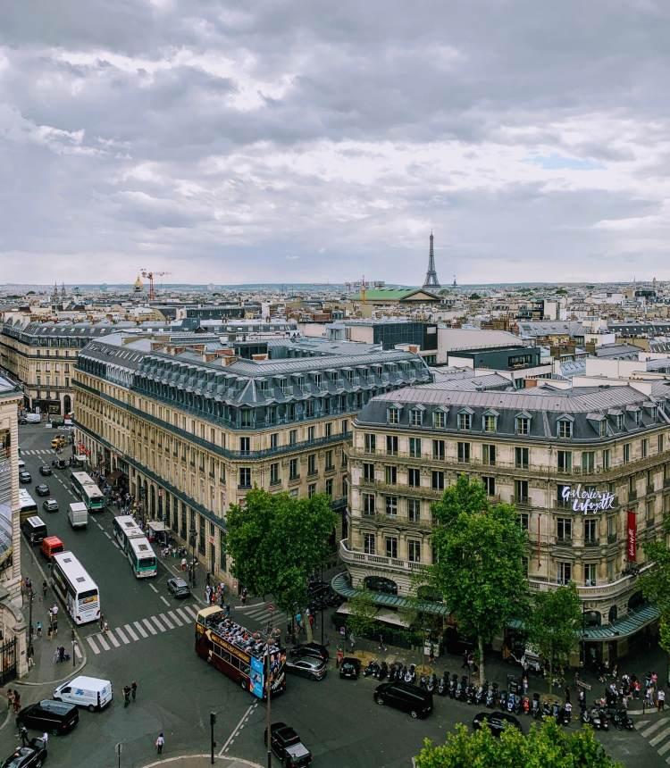 Romantic Weekend in Paris - The Galeries Lafayette Rooftop View