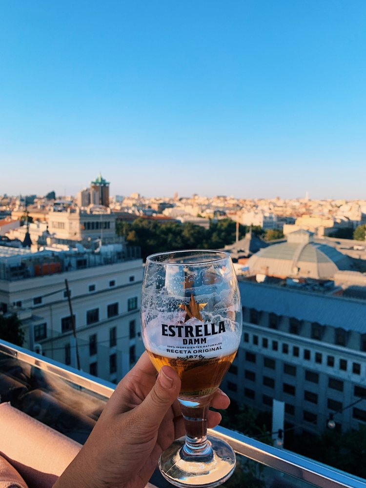 How to have an awesome Weekend in Madrid - rooftop bar at sunset