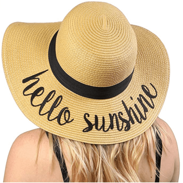 cute lettering sun hat to bring on beach vacation