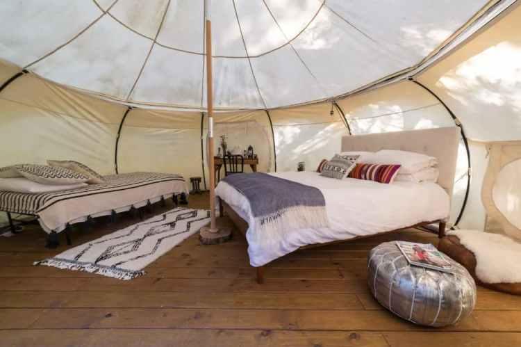 Green Acres Yurt Interior