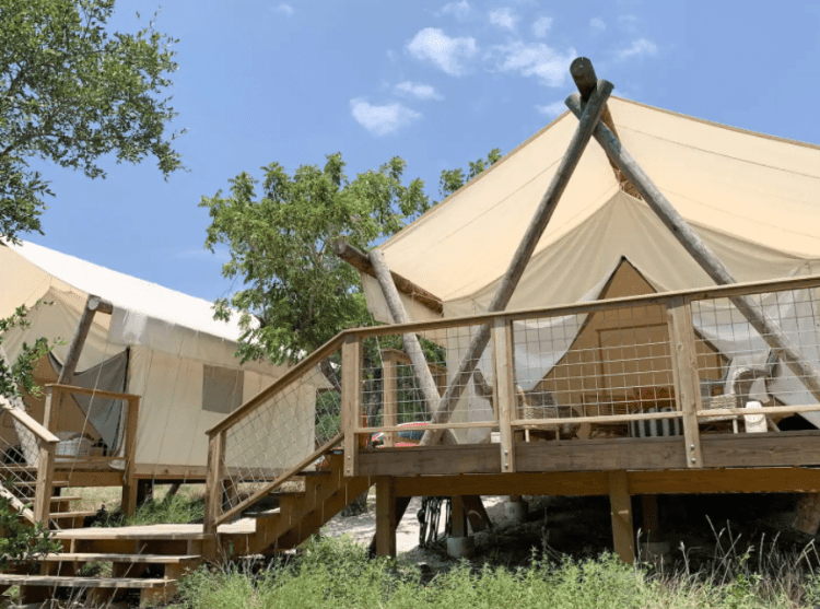 glamping in blanco texas