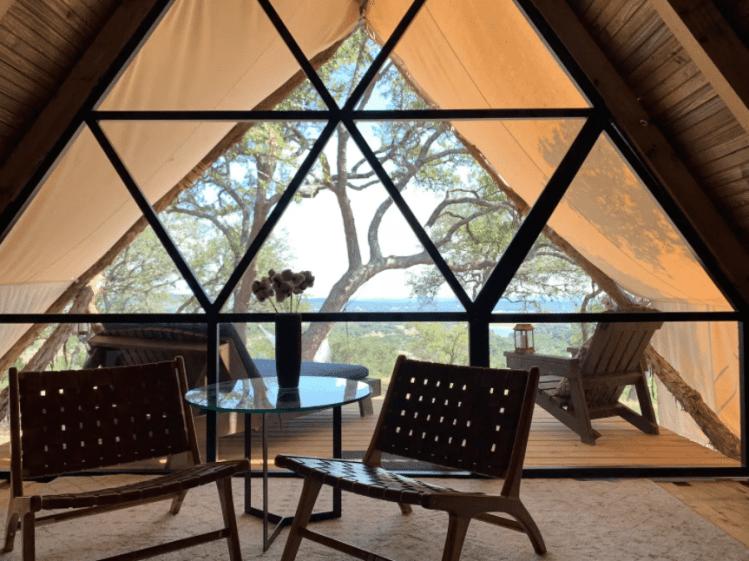 Lake Travis glamping tent