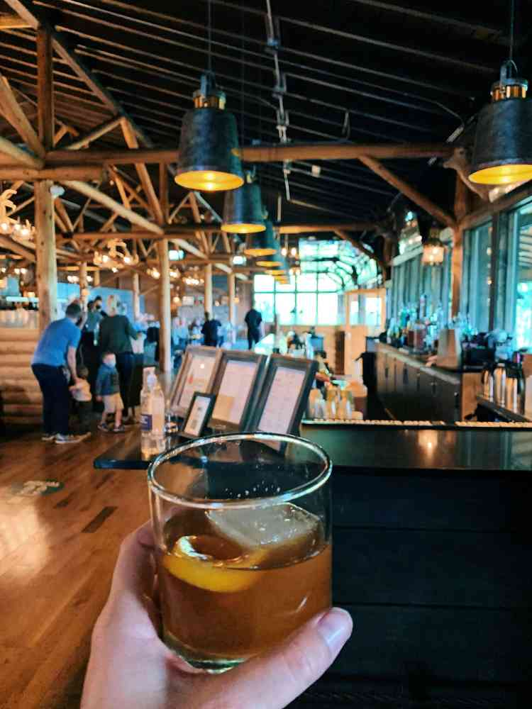 cocktail at grand lake lodge