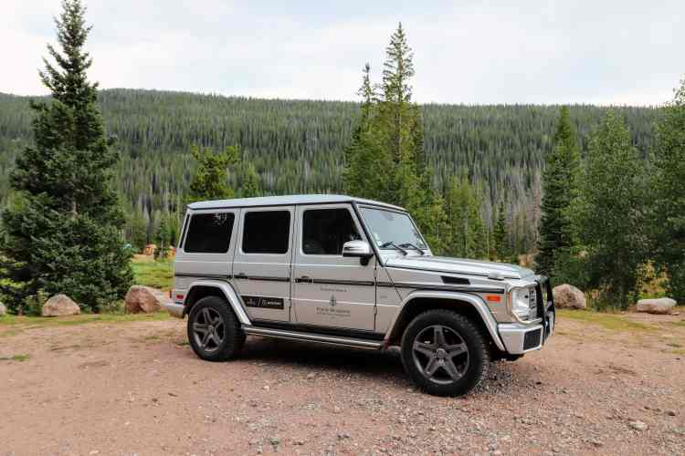 Mercedes G Wagon at Vail Four Seasons Resort