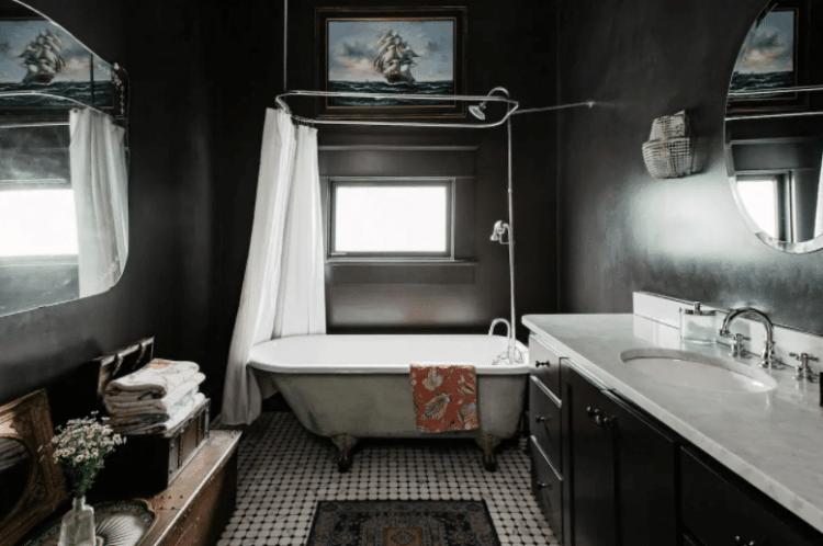Moody Bathroom in cool Austin Airbnb