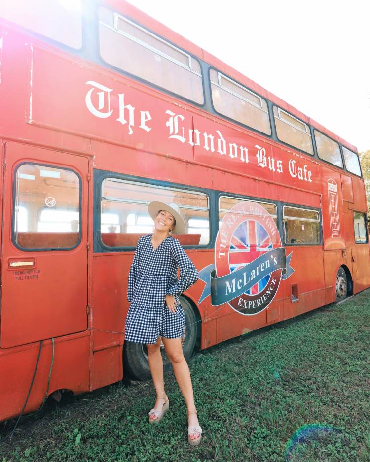 London Bus in Round Top, Texas - must do