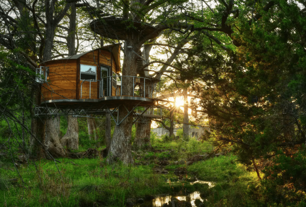 juniper treehouse cabin texas