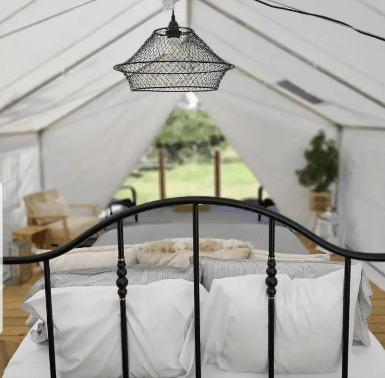 Butterfly Creek glamping tent