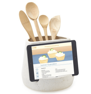 utensil and tablet holder holiday cooking gift idea