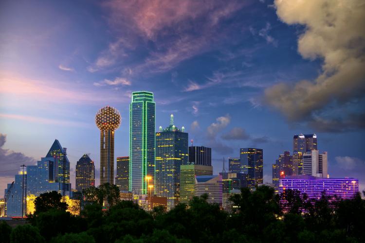 Dallas Texas in Winter