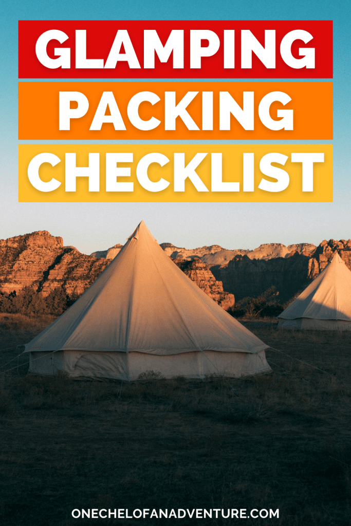 glamping packing list