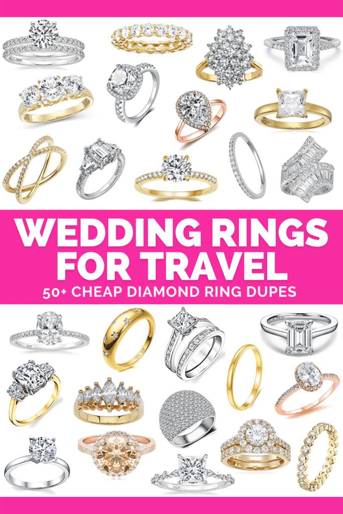 Fake Engagement Rings for Travel - Fake Diamond Ring Dupes