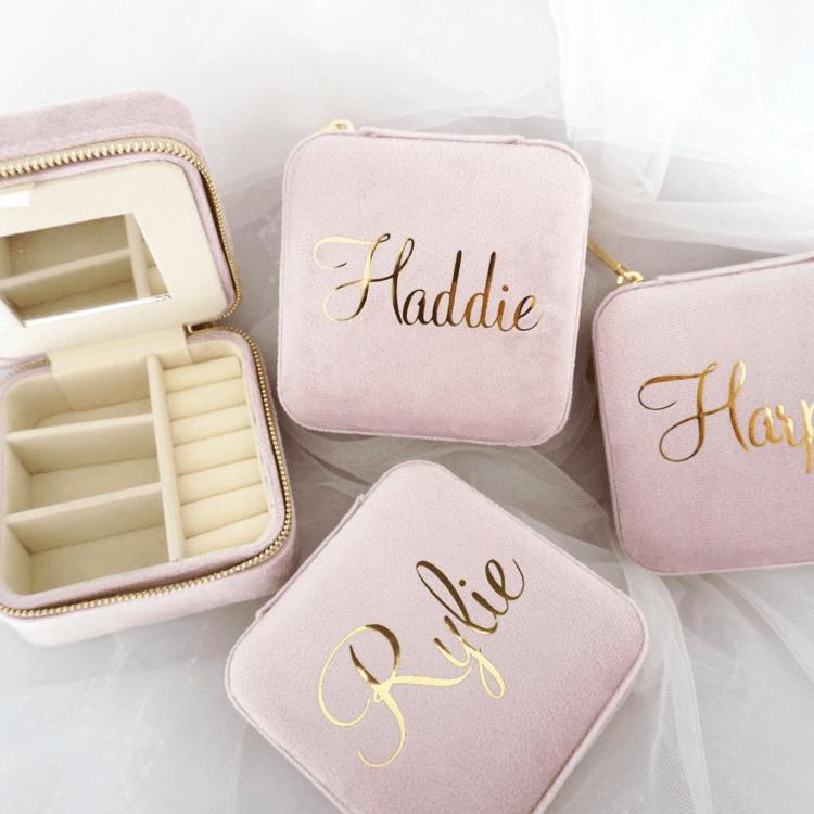 Bridesmaid Proposal Box Ideas - custom jewelry holder