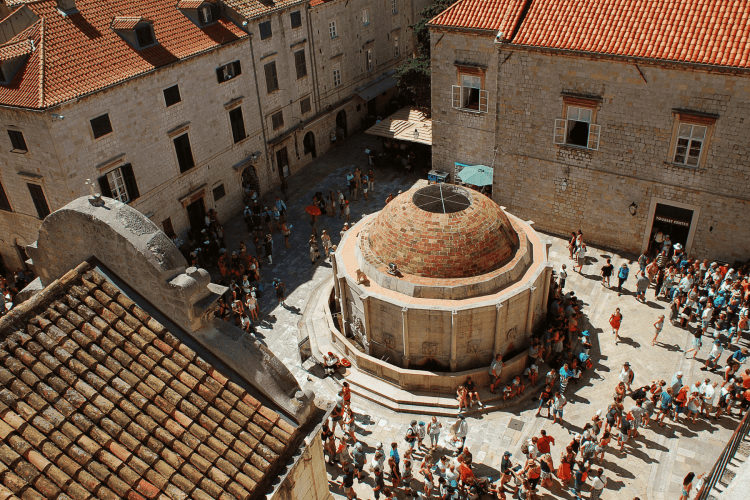 Onofrios Fountain in Dubrovnik