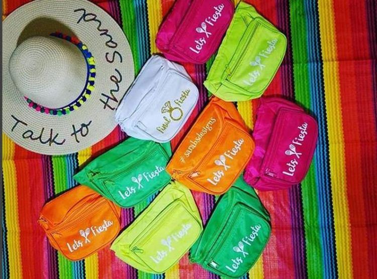 Fiesta Bachelorette Party fanny packs