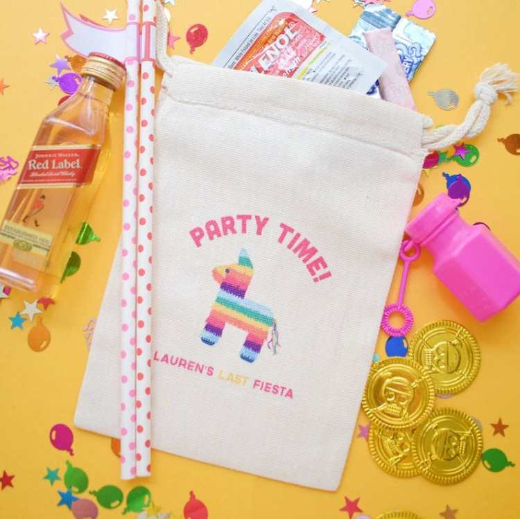 Fiesta Bachelorette Party hangover kit