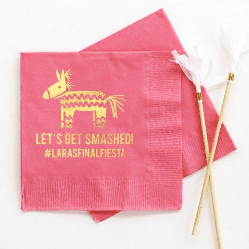 pinata Fiesta Bachelorette Party napkins
