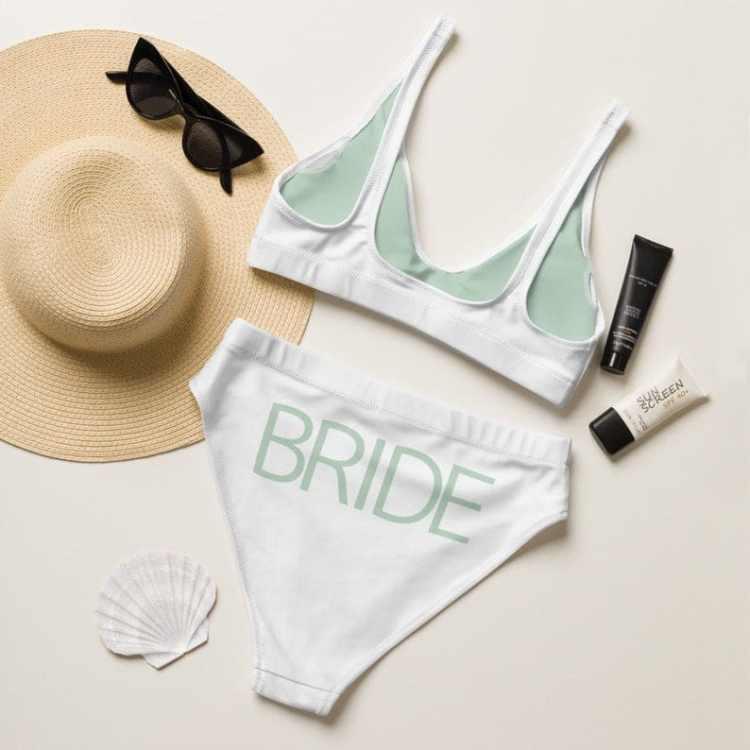 bride bikini - Beach Bachelorette Party