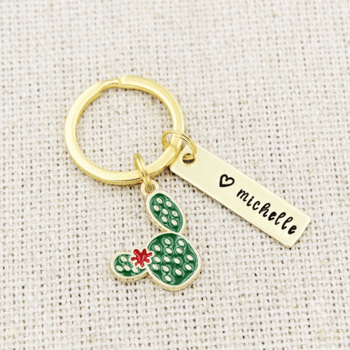 cactus keychain for Fiesta Bachelorette Party