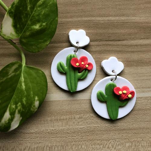 Fiesta Bachelorette Party cactus earrings