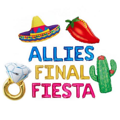 custom Fiesta Bachelorette Party balloons
