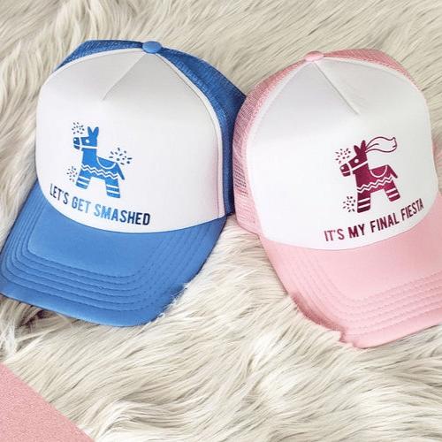 fiesta themed bachelorette party trucker hat