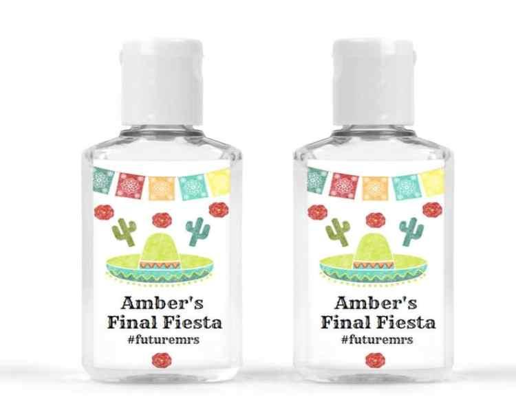 Fiesta Bachelorette Party hand sanitizer