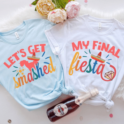My final Fiesta Bachelorette Party shirts