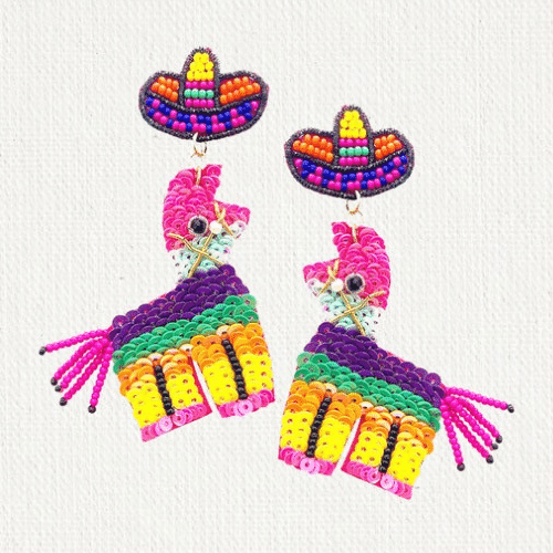 pinata earrings for Fiesta Bachelorette Party