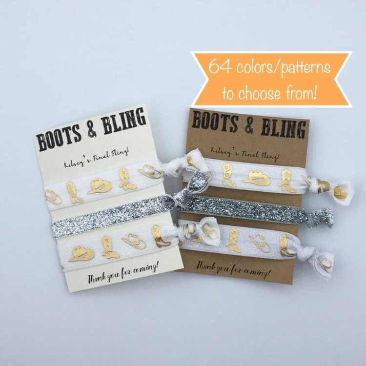 hair ties for western bachelorette party