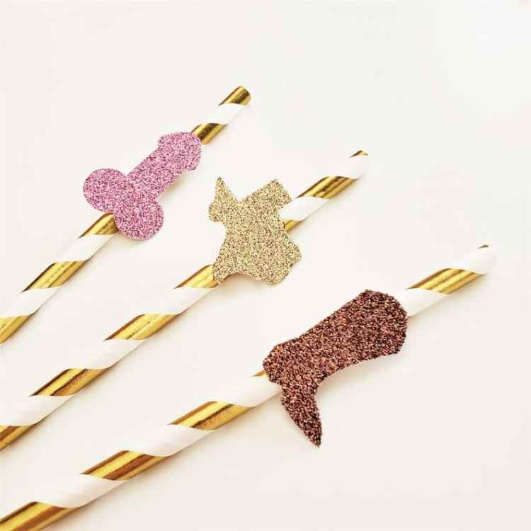 straws for western themed bach party
