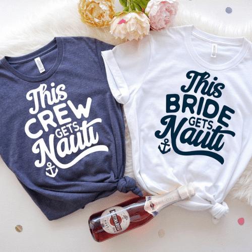 Nautical Bachelorette Party Ideas - Nauti Shirts