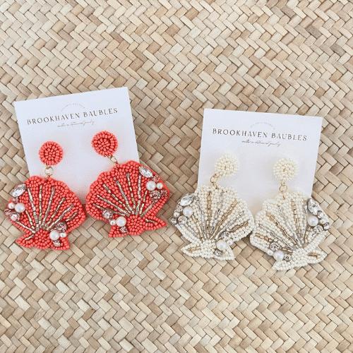 Beach Bachelorette Party beaded earrings