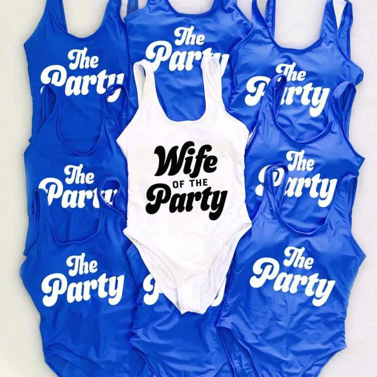 Nautical Bachelorette Party Ideas - matching swimsuits