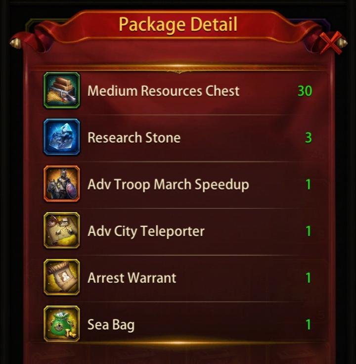 Evony Hydra Treasure Rewards