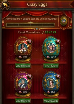 Evony Crazy Egg hammer requirements