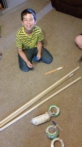 Duct tape hammock start
