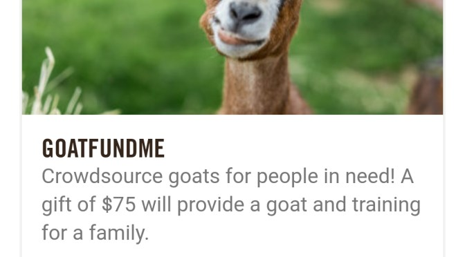#GoatFundMe Crowdsourcing #GivingTuesday