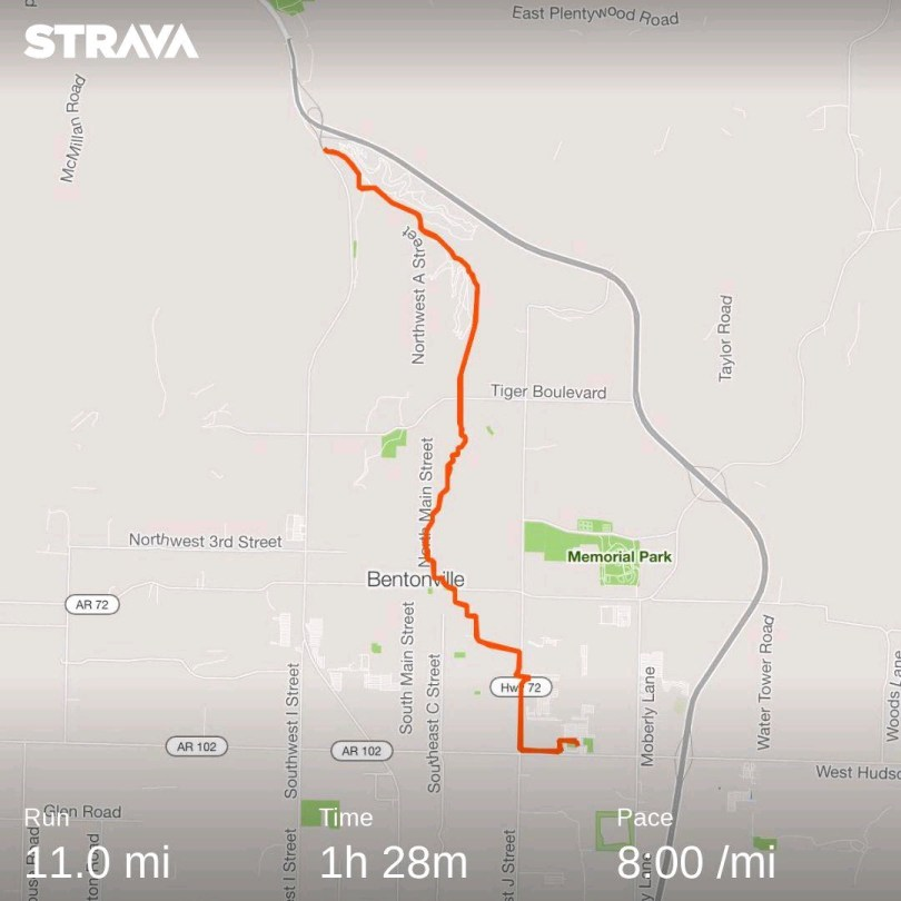 11 mile in 8 min/mile onechristianman.com