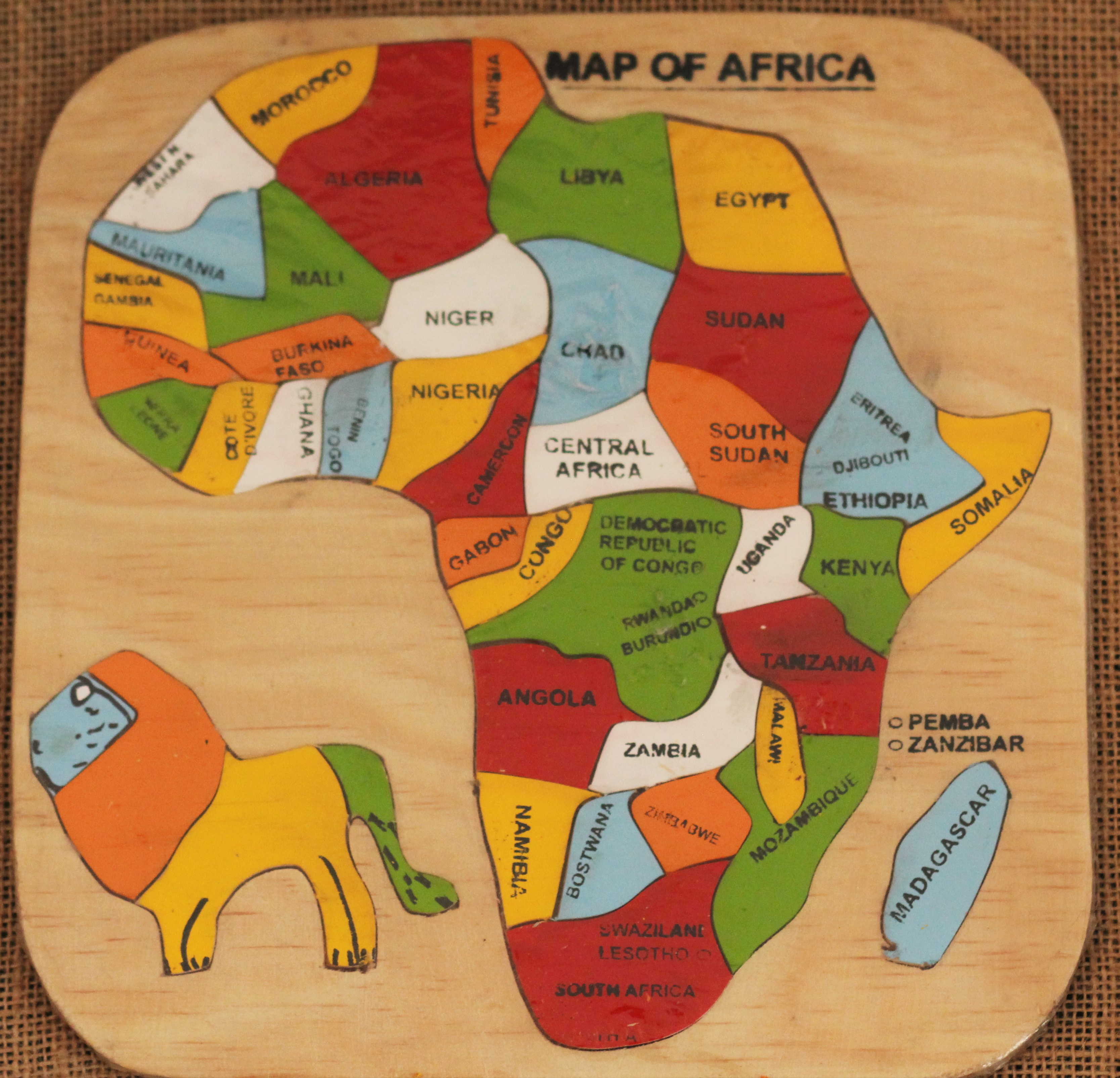 African Continent Puzzle