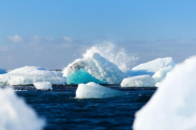 iceland, cold, glacier, melting, snow, thawing, ice, lagoon, pol