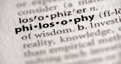 "Picture of the word ""philosophy"" in a dictionary"